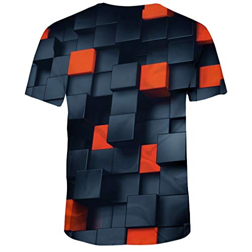 T Shirts 3D Printed Summer Casual Short Sleeve Crewneck Tank Top Tees Summer 3D Printed Fashion Comfort Blouse Top Men's (3XL,2- -