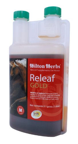 Image of Hilton Herbs Releaf Gold Herbal Mobility Supplement for Horses, 2.1pt Bottle