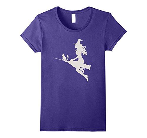 [Womens Funny Nurse Witch Gifts Shirts Nurse Costume 2017 Large Purple] (Nurse Halloween Costumes 2017)