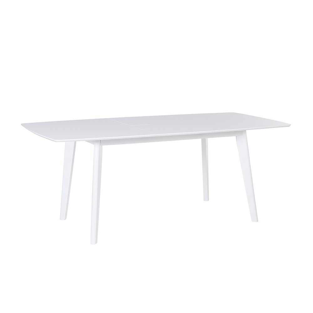 Beliani Extending Dining Table - Kitchen Table - 150/195 cm - White - SANFORD
