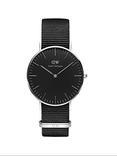 🥇 Daniel Wellington Classic Cornwall Negro/Plata Reloj