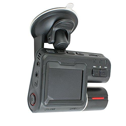 Denshine 1080P Full HD Dual lente coche DVR Dashboard Cam Vehículo Cámara Grabadora de vídeo G-sensor Monitor
