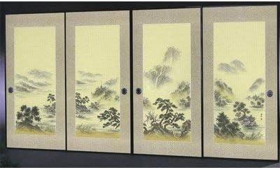 太陽 襖紙 4枚組 4枚柄織物高級 ふすま紙 P-1610
