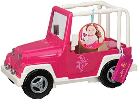 Our Generation 44719 - Jeep für Puppen in rosa/weiß