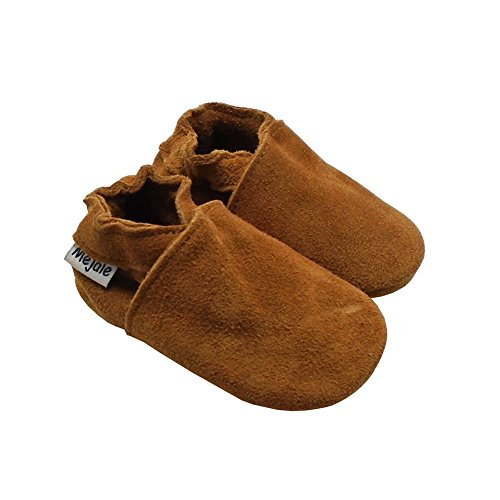 Image of Mejale Baby Infant Toddler Shoes Anti-Slip Soft Soled Leather Moccasin Pre-Walker
