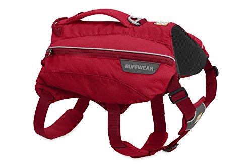 Ruffwear Singletrak Hydration Pack for Dogs, Red Currant, Medium