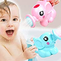 Profancity Swimming Bathing Toys Small Elephant Watering Pot for Children Kids Baby Showering