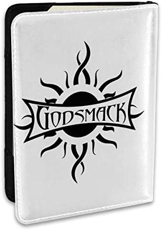 Godsmack ゴッドスマック ロゴ パスポートケース パスポートカバー メンズ レディース パスポートバッグ ポーチ 収納カバー PUレザー 多機能収納ポケット 収納抜群 携帯便利 海外旅行 出張 クレジットカード 大容量