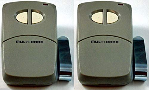 - 4120 2PACK Linear Multi-Code 2-Button Remote multicode MCS412001 300mh 3089 1090