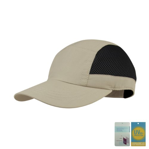Juniper Casual Outdoor Cap, One Size, Khaki/Black