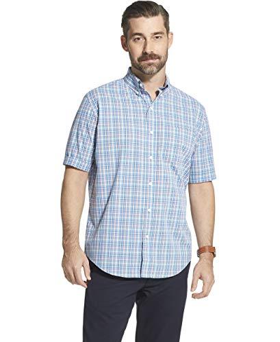 Arrow Men's Short Sleeve Hamilton Poplin Shirt, Silver Lake Blue ()
