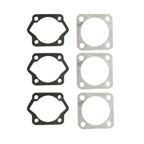 HURI 3set Cylinder Head Bottom Gasket for Motorized Bicycle Bike 49cc 60cc 66cc 80cc 2 Stroke Engine ()