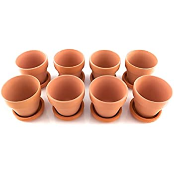 Amazon Com Set Of 10 Terra Cotta Pots Clay Flower Pots