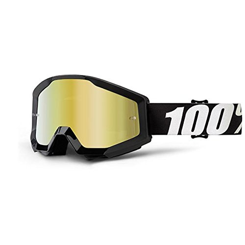 - 100% Unisex-Adult Speedlab (50410-233-02) STRATA Goggle Outlaw-Mirror Gold Lens, One Size)