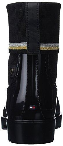 Bottes Pluie 990 Femme amp; Sock Boot Bottines Tommy Hilfiger Rain Knitted De Noir black RXqZRxFgp