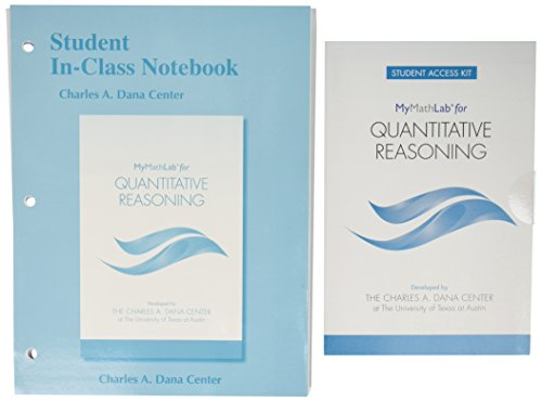 Quantitative Reasoning(Mml Access)(W/Student Llf Notebook)
