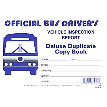 Bus Drivers Vehicle Inspection Report 2-Ply w//Carbon 25B Keller 902 J.J Extra Value Pack of 10