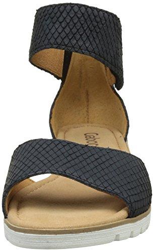 Gabor Shoes Fashion, Sandalias con Cuña para Mujer Azul (nightblue 86)