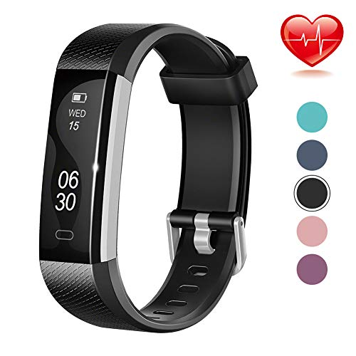Lintelek Fitness Tracker, Slim Activity Tracker with Heart Rate Monitor,...