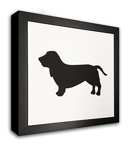 Basset Hound Photo Mat With Frame - I Love My Basset Hound Picture Frame - Dog (Basset Hound Photo Frame)