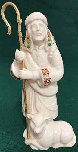 Lenox China Jewels nativity Shepherd with lamb and staff Ivory Porcelain New In box (Nativity Lenox)