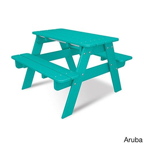 POLYWOOD KT130AR Kids Picnic Table, Aruba by POLYWOOD