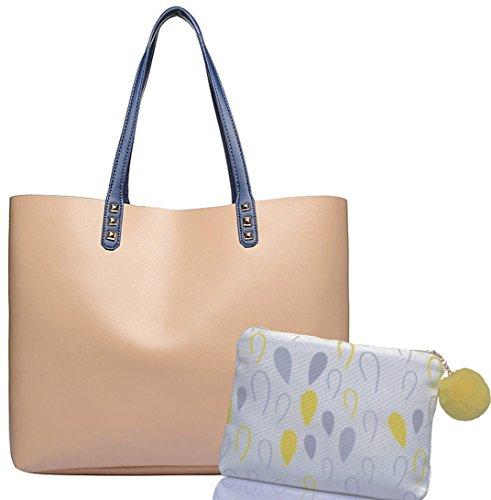 623104c4bb Shopper Henkel Trage Einkaufs Tasche, City Damenhandtasche, absolut im  Trend, als Geschenk-