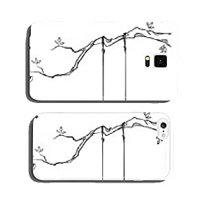 tree with a swing. Vector illustration. cell phone cover case iPhone6