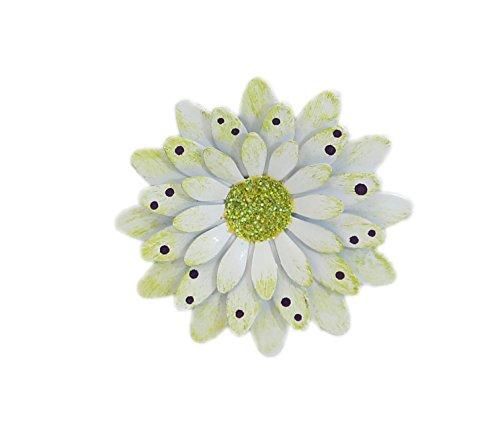 White Polkadot Gerbera Daisy Magnet - Set Of 3