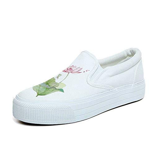 Ysfu nbsp; nbsp; A Sportive Mano Di Canapa Bianche nbsp;da Piattaforma nbsp;leggero Dipinte All'aperto nbsp; nbsp; Scarpe Tela Donna Da Casual Sneaker Sneakers HftqxwSHr
