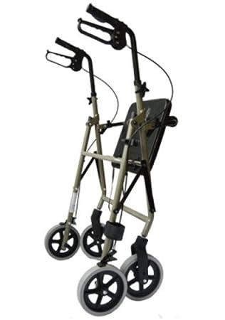 Rollator - Andador de aluminio ligero soporte de bastón gehwagen ...