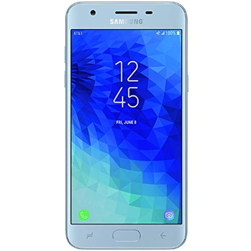 Samsung Galaxy J3 2018 (16GB) J337A - 5.0 HD Display, Android 8.0, 4G LTE AT&T Unlocked GSM Smartphone (Silver)
