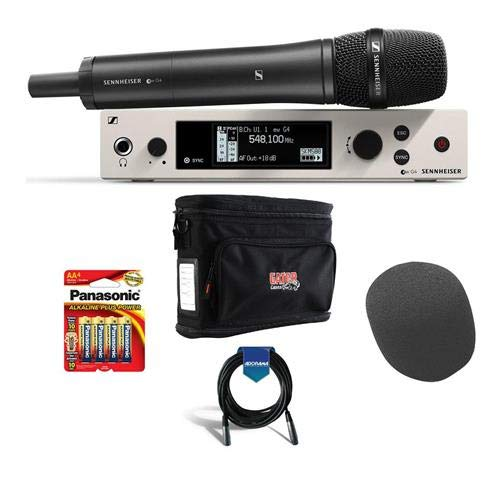 - Sennheiser ew 500 G4 Wireless Microphone System with MMD-965 Handheld Capsule AW+ Band Kit