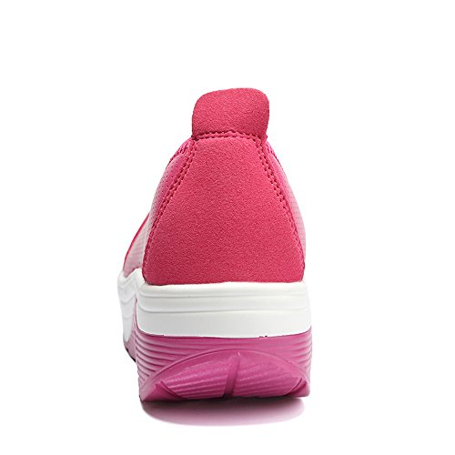 EnllerviiD Women Athletic Slip On Platform Fitness Toning Sneakers Shape Up Walking Shoes Rose ws7Drw