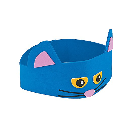 Fun Express - Cat Headband Ck -12 - Craft Kits - Apparel Craft Kits - Hat & Mask - 12 Pieces ()