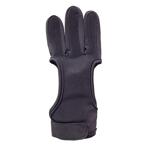 Eamber Archery Shooting Gloves Leather Bow Protective Archery Gloves Three Finger Recurve Bow Archery Glove (XL 10cm)