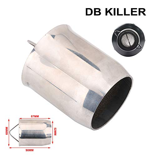 AnXin 51mm Exhaust DB Killer Universal Motorcycle Removable Exhaust Muffler Silencer Noise Sound Eliminator