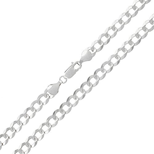 Sterling Silver Italian 6mm Cuban Curb Link ITProlux Solid 925 Necklace Chain 20