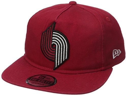 New Era NBA Portland Trail Blazers Hardwood Classic Team Washed A-Frame Snapback Cap, One Size, Red
