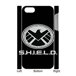 Protection Cover iphone4 4S 3D Cell Phone Case White Djpuz S.H.I.E.L.D Personalized Durable Cases