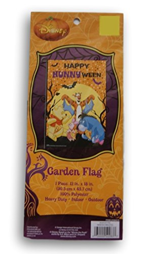 Winnie the Pooh Halloween Decorative Garden Yard Flag - ''Happy Hunnyween!'' - 12'' x 18'' -