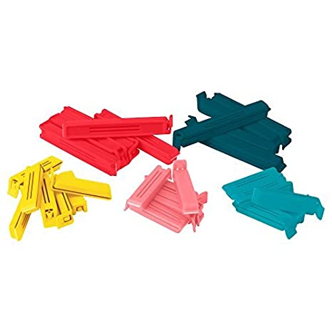 Polypropylene 2X0757901195440 Bevara Sealing Clips Various Sizes Bright Colours 16 x 12 x 3 cm