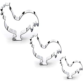 Stainless Steel Chicken Cookie Cutter Set 3 Piece