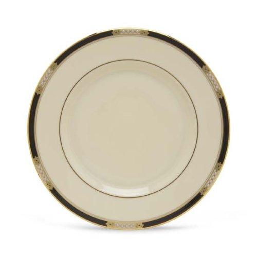 Salad China Banded Ivory Plate - Lenox Hancock Gold Banded Ivory China Salad Plate