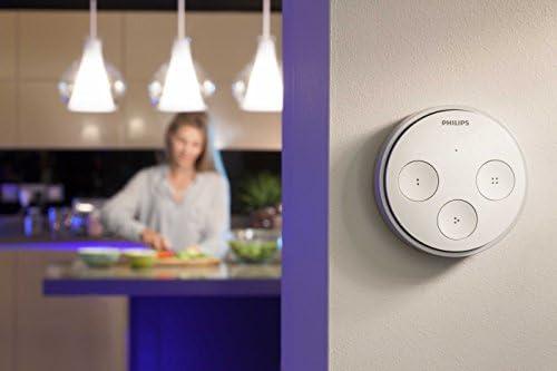 Philips Hue Tap, kabelloser, intelligenter Schalter, Zubehör für Ihr Philips Hue System &  Hue LightStrip+ Erweiterung für Basis Set, 1m, dimmbar, bis zu 16 Millionen Farben
