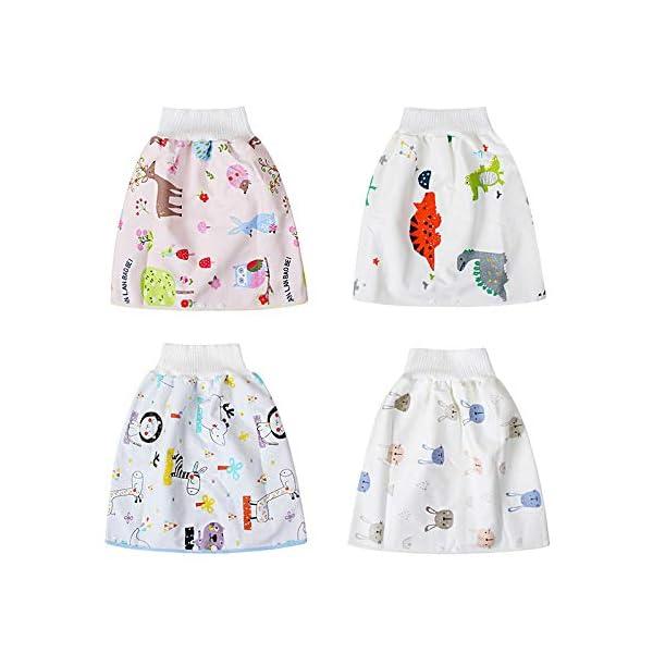 Teekit Comfy Childrens Diaper Skirt - Pantaloncini impermeabili e assorbenti per bambini 3