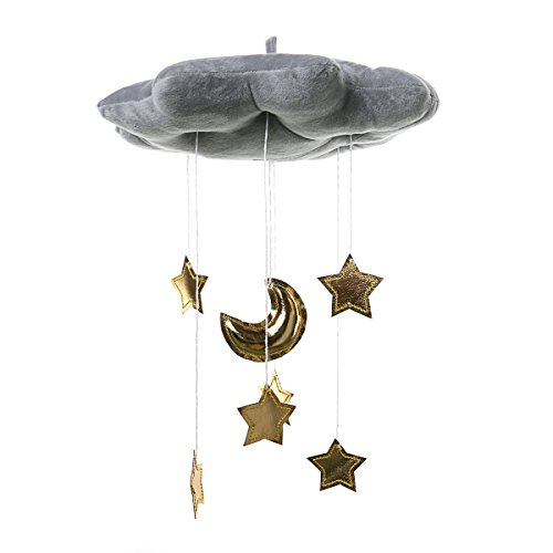 Lannmart Toys Hanging Rattle Baby Plush Soft Toys Moon Star