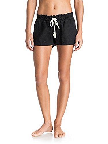 Roxy Junior's Oceanside Short Elastic Waist Non Denim Shorts, True Black, Large from Roxy