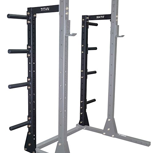 Titan X-3 Squat Stand Conversion Kit to Power Rack w/ Plate Holders by Titan Fitness