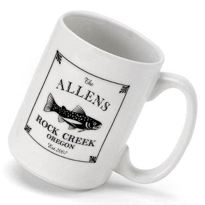 Personalized Cabin Series White Oak Coffee Mug (15 oz.)